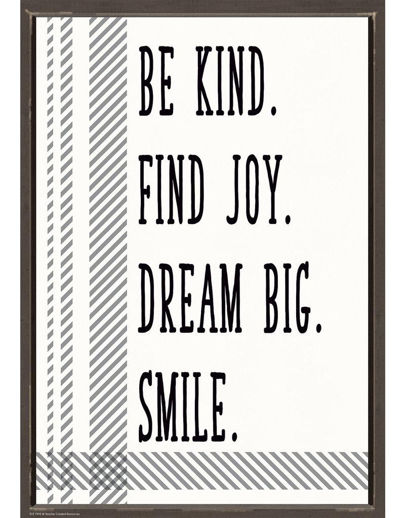 Be Kid Find Joy. Dream Big. Smile. Positive Poster