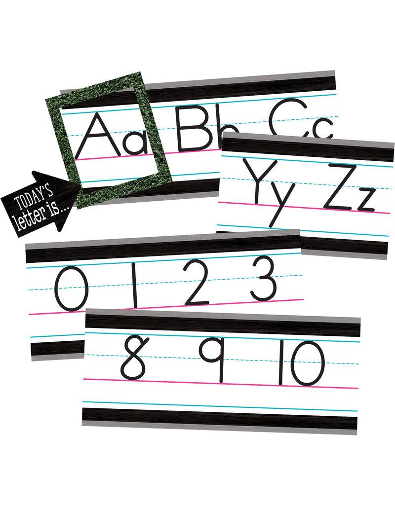 Modern Farmhouse Alphabet Line Bulletin Board