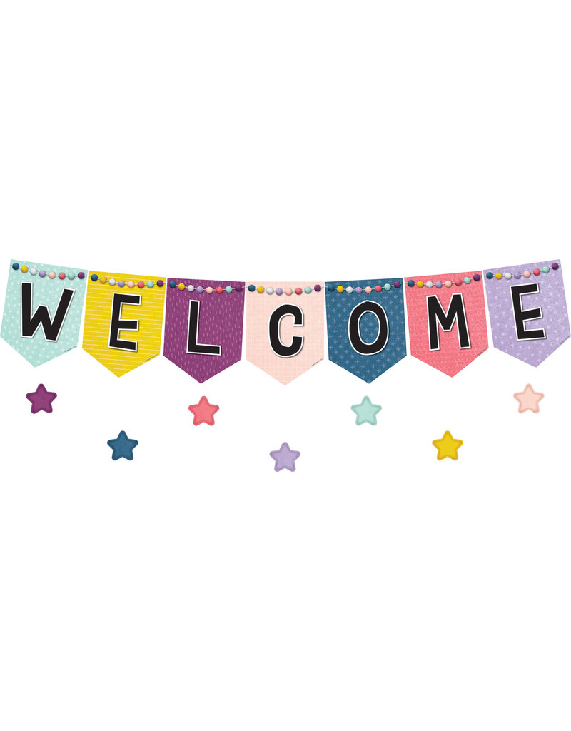 Oh Happy Day Pennants Welcome Bulleting Board