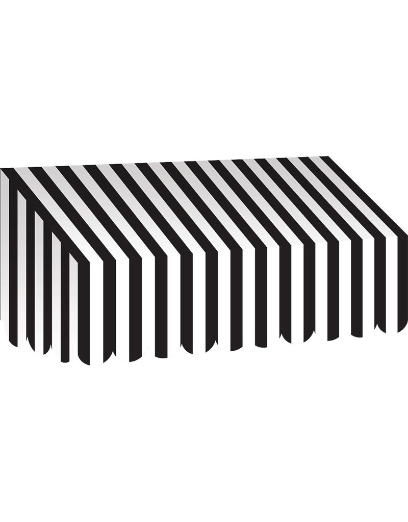 Black & White Stripes Awning