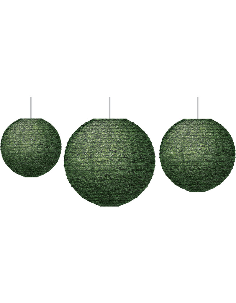 Boxwood Hanging Paper Lanterns