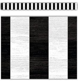 Modern Farmhouse Back Stripes Straight Border Trim
