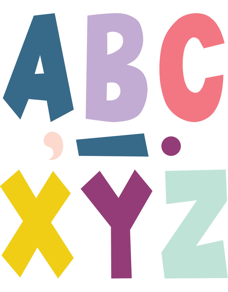 """Oh Happy Day 7"""" Fun Font Letters"""