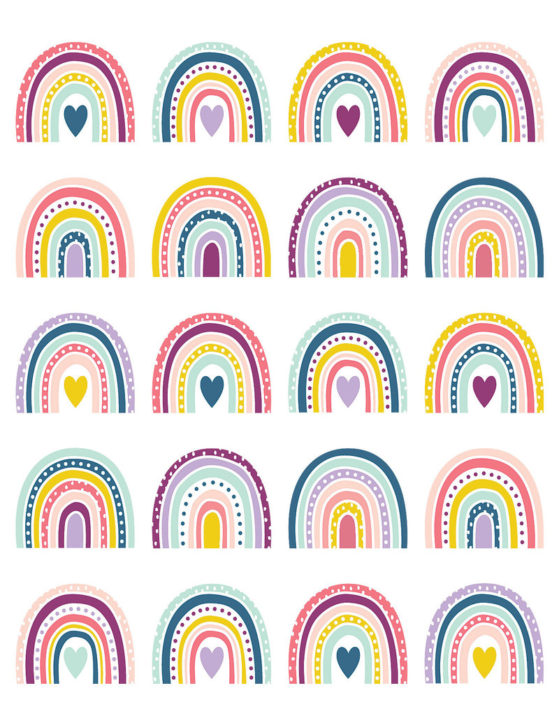 Oh Happy Day Rainbows Stickers