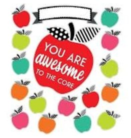 Black White & Stylish Brights You are Awesome to the Core Bulletin Board Set