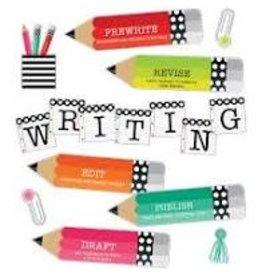 Black White & Stylish Brights Writing Mini Bulletin Board Set