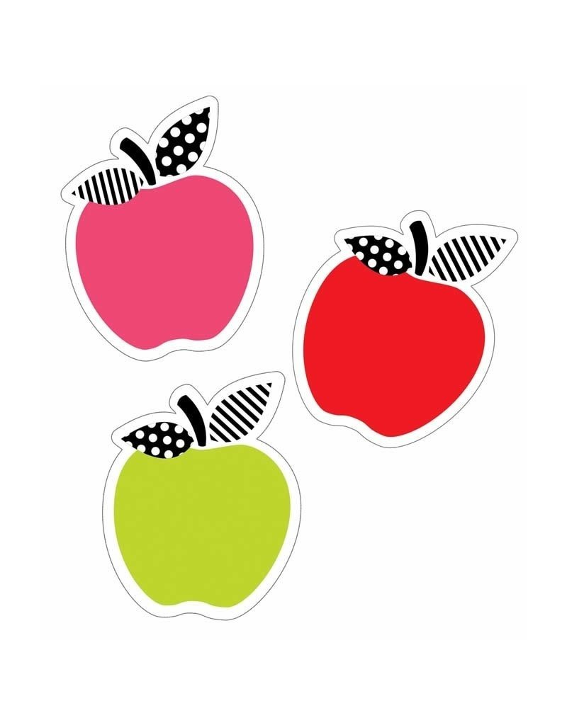 Black White & Stylish  Brights Apples Accents