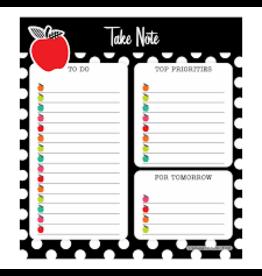 Black White & Stylish Brights Note Pad