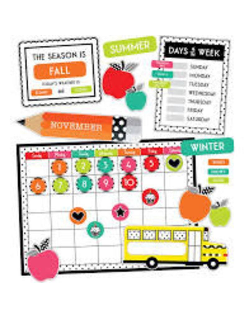 Black, White & Stylish Calendar Bulletin Board Set