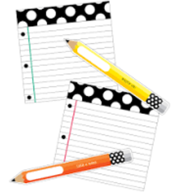 Black White & Stylish Brights Pencil and Paper Accents