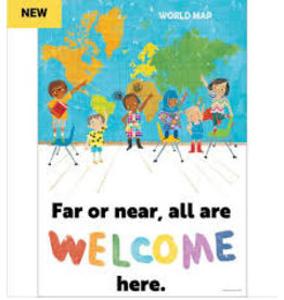 All Are Welcome Far or Near All Are Welcome Here Poster