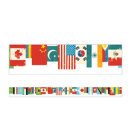 All Are Welcome Flag Straight Border