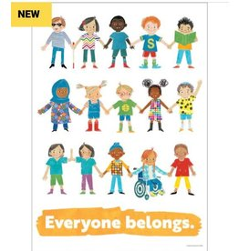 All Are Welcome Everyone Belongs Poster