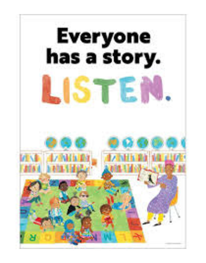 All Are Welcome Everyone Has A Story. Listen Poster