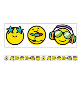 Kind Vibes Smiley Facey Straight Border