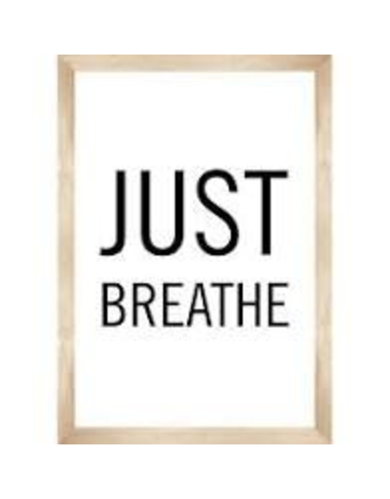 Simply Boho Just Breathe Poster