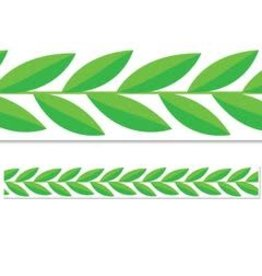 Positively Plants Leaf Garland Border