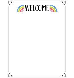 Rainbow Doodles Welcome Chart