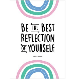 Rainbow Doodles Be the Best Reflection of Yourself Poster