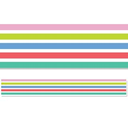 Rainbow Doodles Rainbow Stripes Border