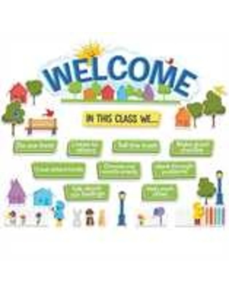 A Teachable Town in This Class Welcome Set bulleting board