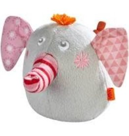Clutching Soft Toy Nelly the Elephant