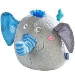 Clutching Soft toy Noah the Elephant