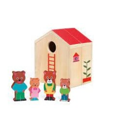 Minihouse Wooden Dollhouse Set