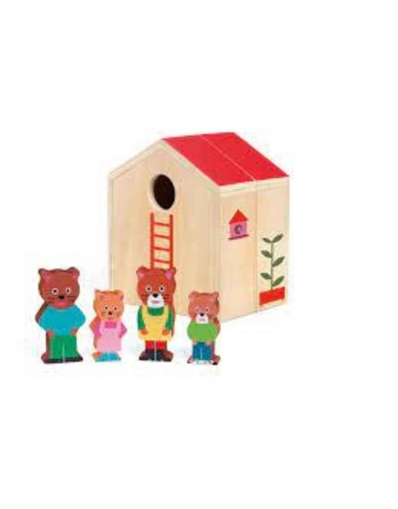 Minihouse Wooden Dollhouse Set
