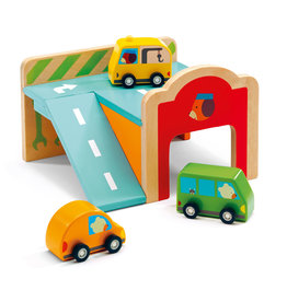 Minigarage Wooden Automobile Set