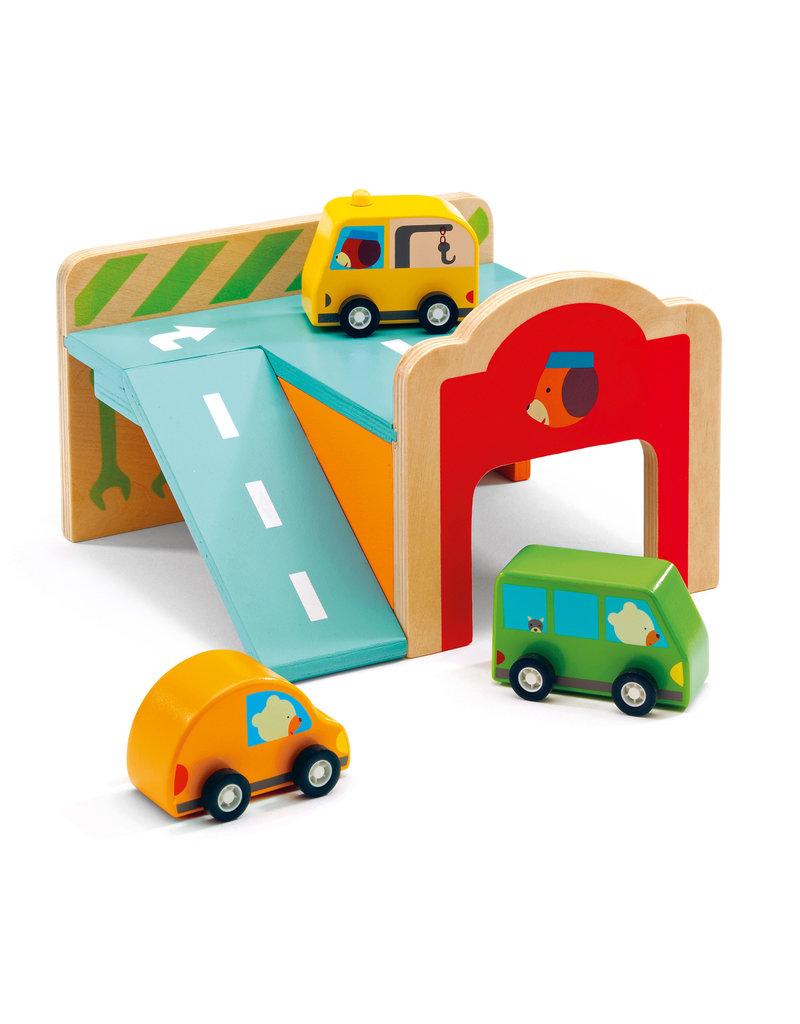 Minigarage Wooden Automobile Set