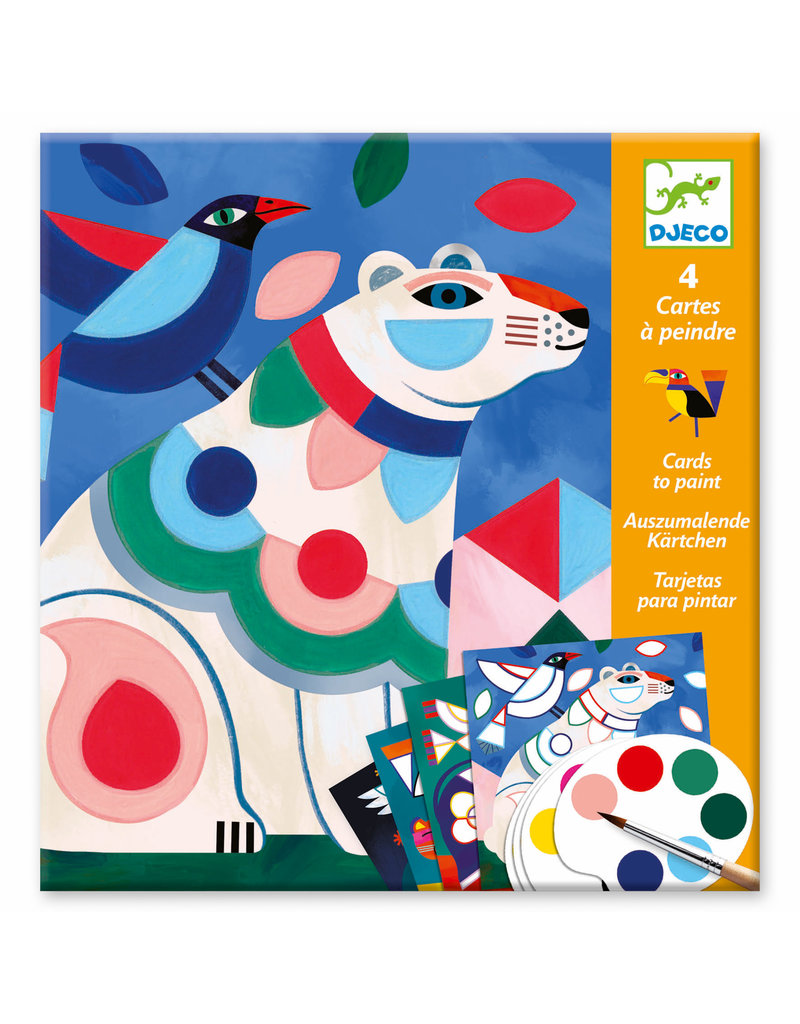Fanciful Bestiary Surprise Watercolor Painting Cards Activity Set
