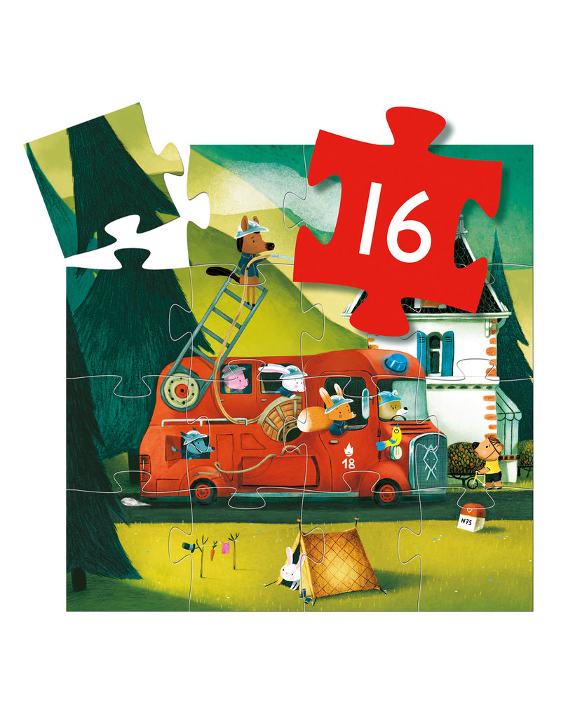 Fire Truck 16pc Jigsaw Puzzle