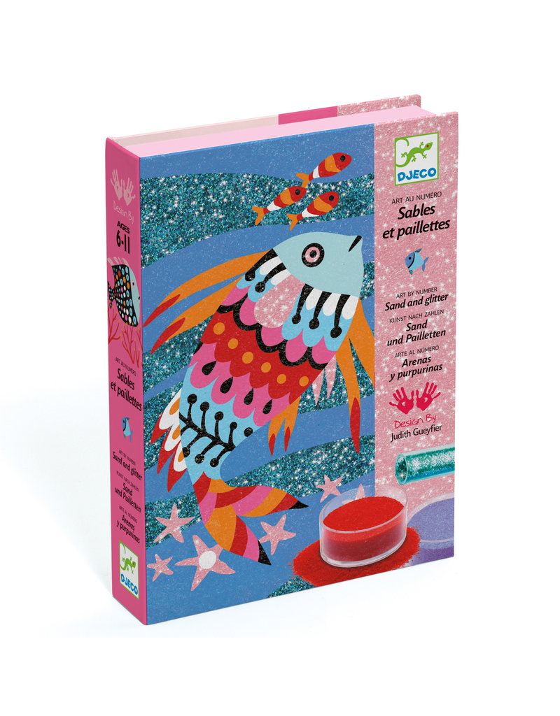 Fish Rainbow Colored Sand and Glitter Craft Kit