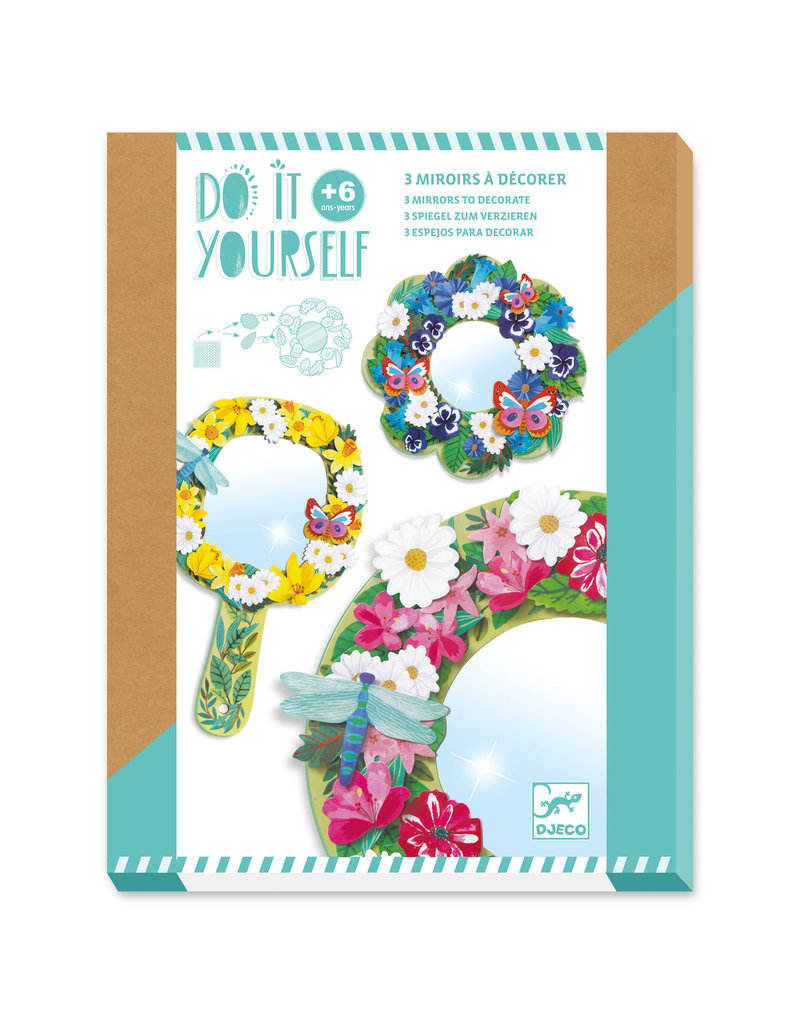 Pretty Flower DIY Mirrors Craft Kit