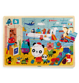 Puzzlo Airport Wooden Jigsaw Puzzle
