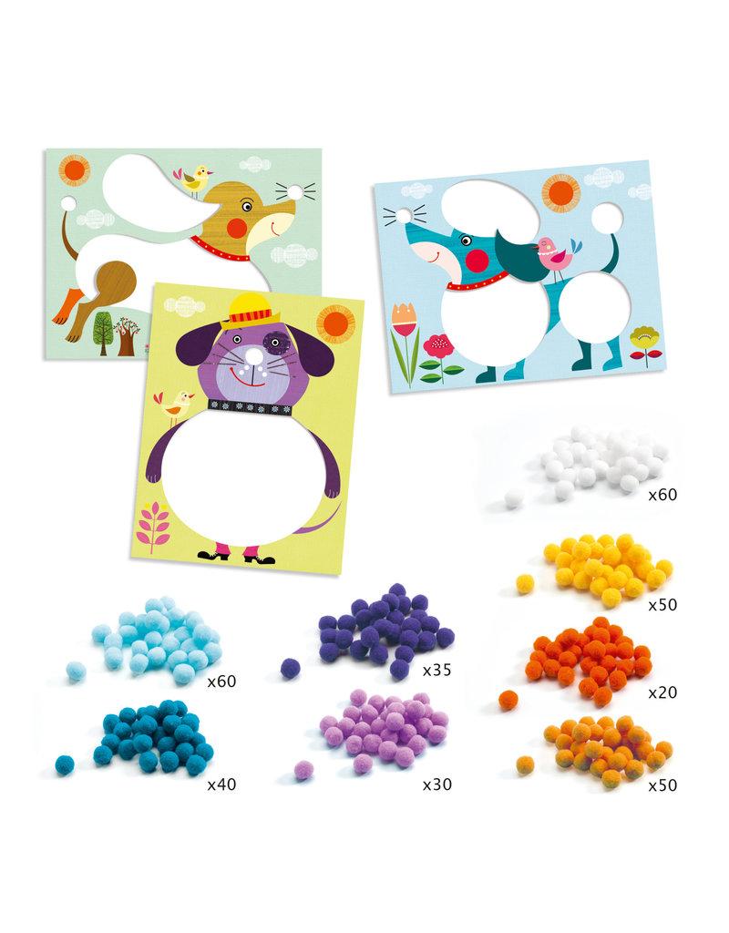 PomPom Puppies Collage Craft Kit