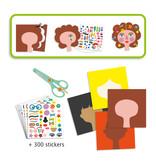 Hair Dresser Sticker Collage Activity