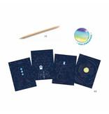 Cosmic Mission Metallic Scratch Card Activity Set