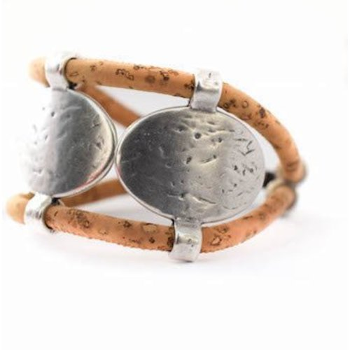 CORK TREE DESIGNS NATURAL CORK CUFF BRACELET