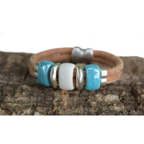 CORK TREE DESIGNS BEAD DAZZLED CORK BRACELET