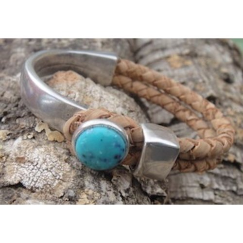 CORK TREE DESIGNS CORK & TURQUOISE BRACELET