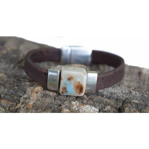 CORK TREE DESIGNS CARIBBEAN CRUISE CORK BRACELET