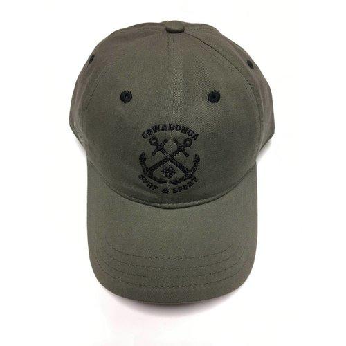 COWABUNGA NAUTICAL HAT, OLIVE