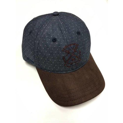 COWABUNGA NAUTICAL HAT, DENIM DOBBY