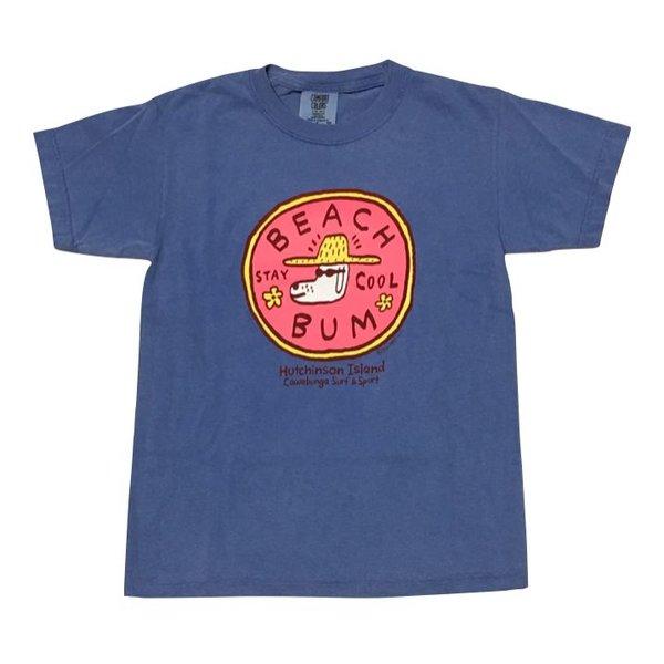 BEACH BUM S/S YOUTH T-SHIRT, FLO BLUE