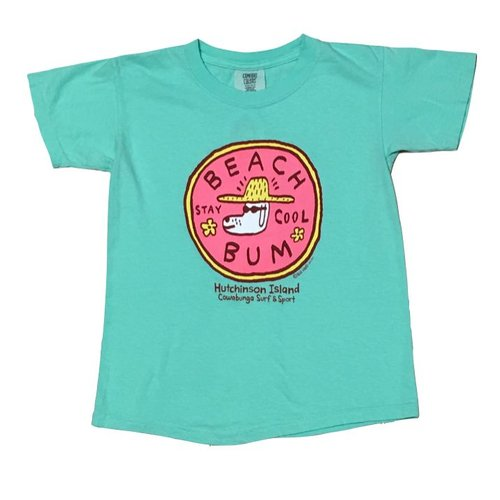 BIG HED BEACH BUM YOUTH TEE, ISLAND REEF