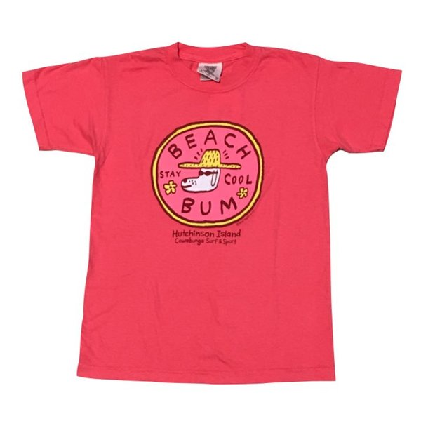 BEACH BUM S/S YOUTH T-SHIRT, SALMON