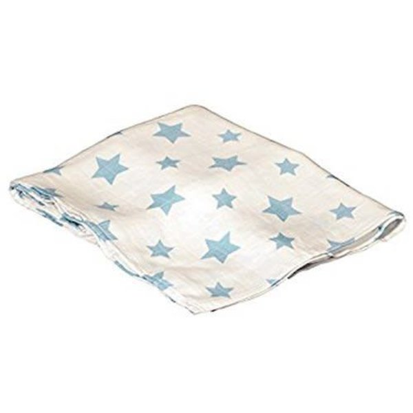 BAMBOO SWADDLE BLANKET, BLUE
