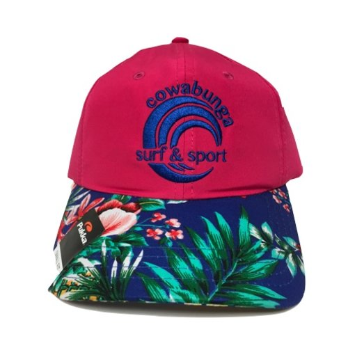 COWABUNGA NYLON HAT, HOT PINK FLORAL